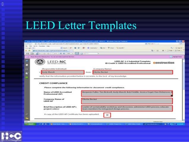 leed letter template - eb healthcare leed