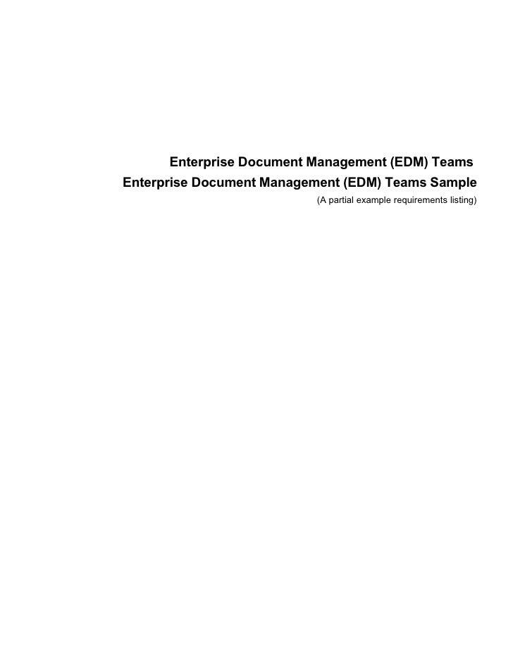 Enterprise Document Management (EDM) Teams Enterprise Document Management (EDM) Teams Sample                           (A ...