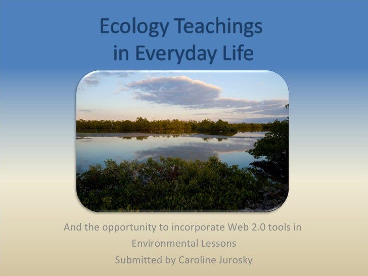 And the opportunity to incorporate Web 2.0 tools in  Environmental Lessons Submitted by Caroline Jurosky