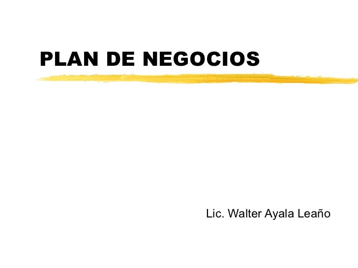 Ejemplo de un plan de negocios for Plan de negocios ejemplo pdf