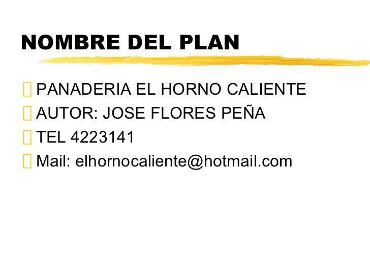 Ejemplo de un Plan de Negocios Slide 2