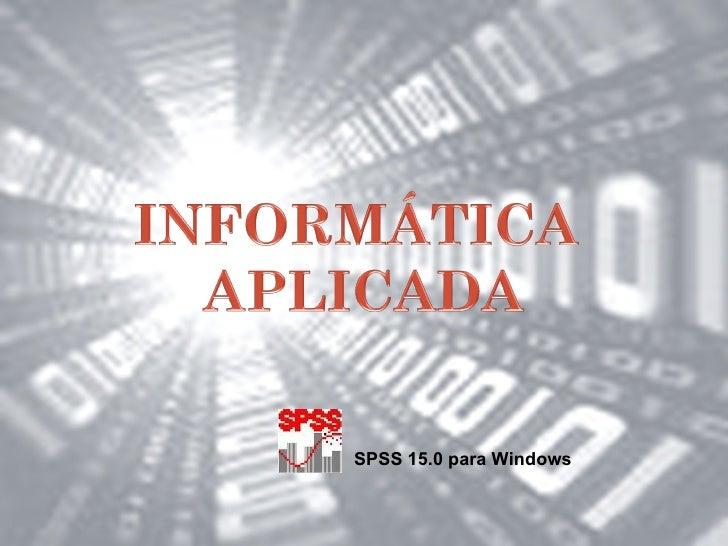SPSS 15.0 para Windows