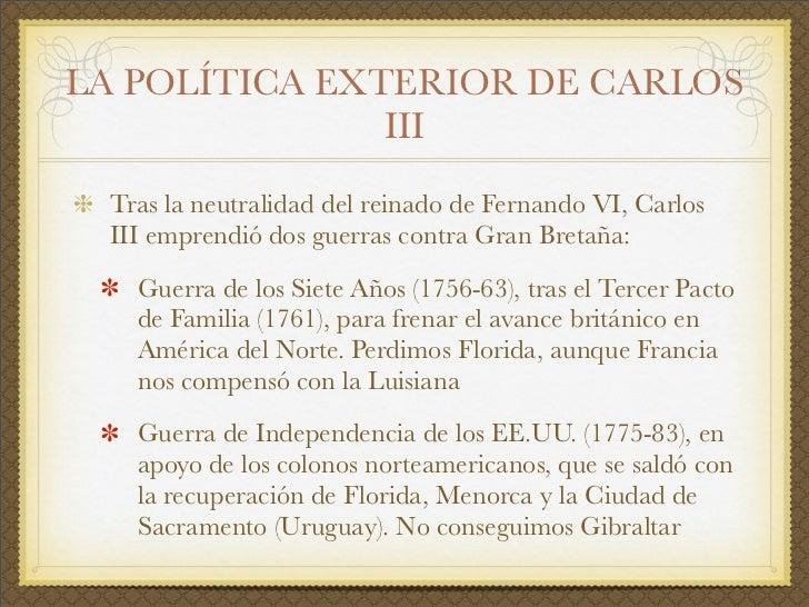 El siglo xviii en espa a el reformismo borb nico for Politica exterior de espana