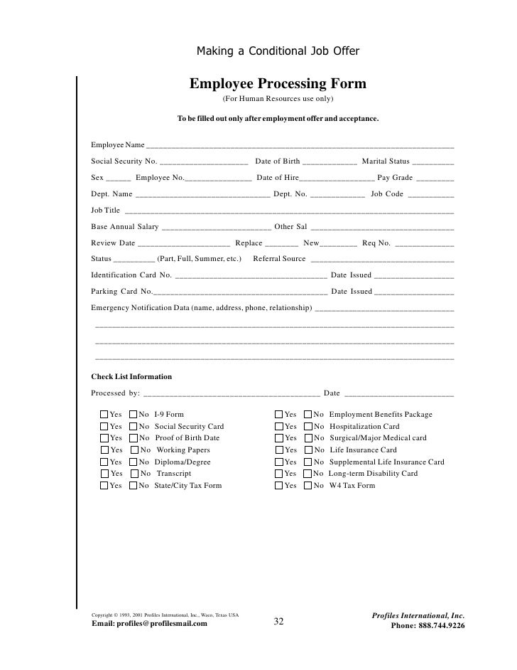 Employment guide kd 36 making a conditional job offer employee processing form thecheapjerseys Images