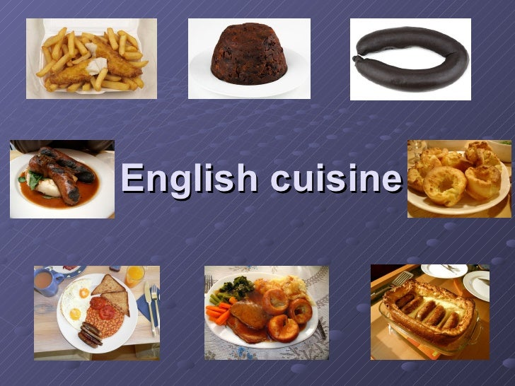 English cuisine for Cuisine in english