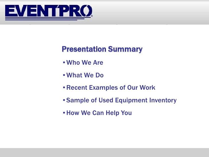 Event Pro   Mobile Business Solutions Presentation 11.19.08 (Compatability Mode) Slide 2