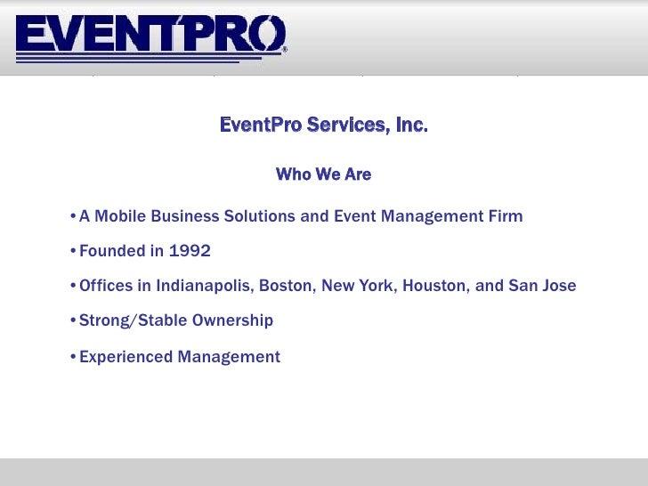 Event Pro   Mobile Business Solutions Presentation 11.19.08 (Compatability Mode) Slide 3