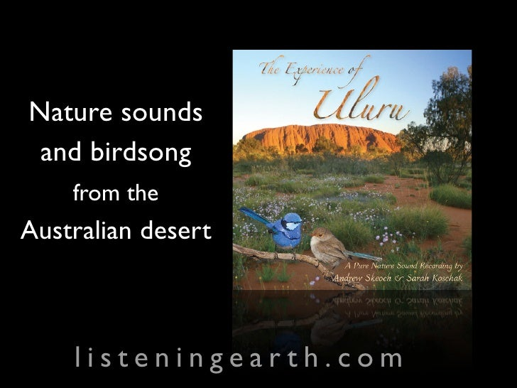 Nature sounds  and birdsong     from the Australian desert        listeningearth.com