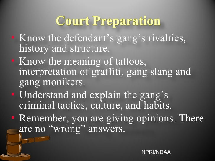 Gang monikers