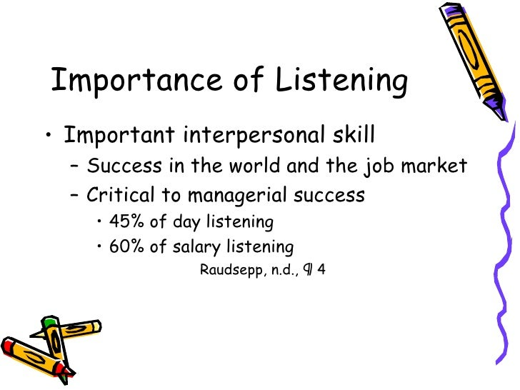 importance of listening and responding in Start studying chapter 5 - listening and responding learn vocabulary, terms, and more with flashcards, games, and other study tools or importance of information.