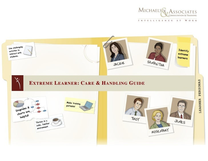 EXTREME LEARNER: CARE & HANDLING GUIDE