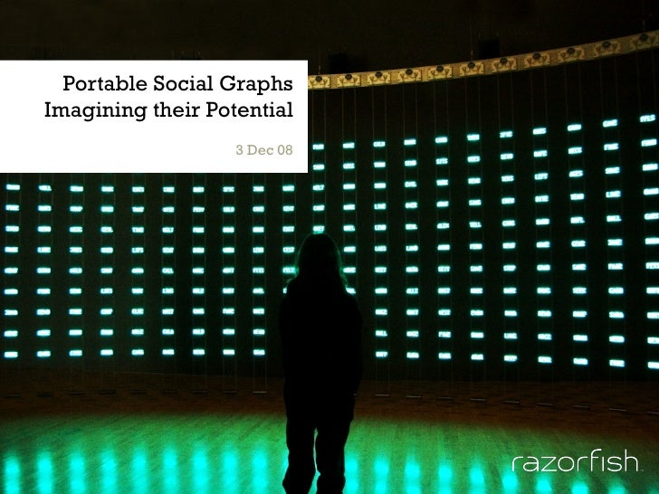 Portable Social Graphs Imagining their Potential 3 Dec 08