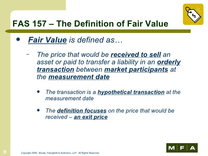 Fair value is it fair game