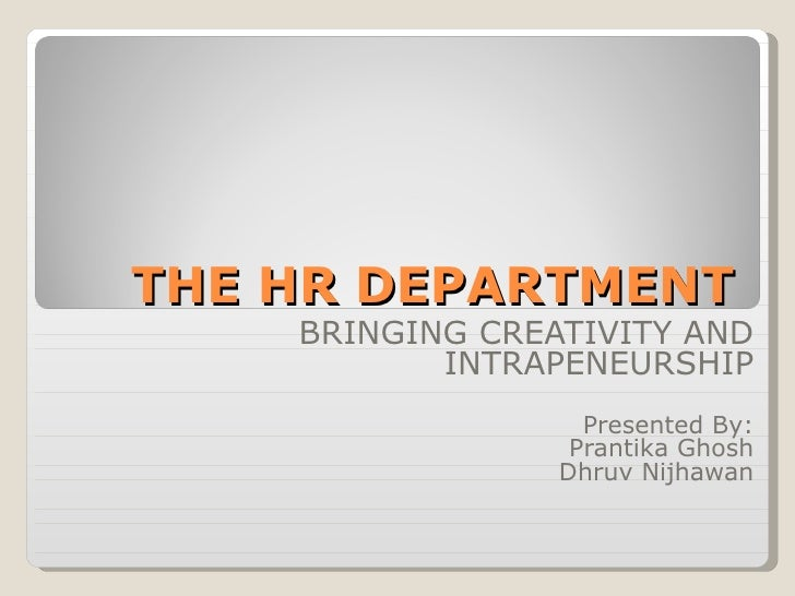 HR department and Creativity