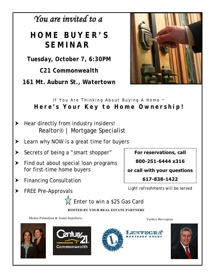 Flyer Home Buyer Seminar C Comm