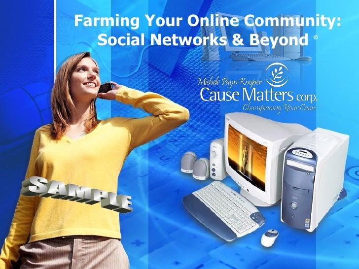 Farming Your Online Community: Social Networks & Beyond  © SAMPLE