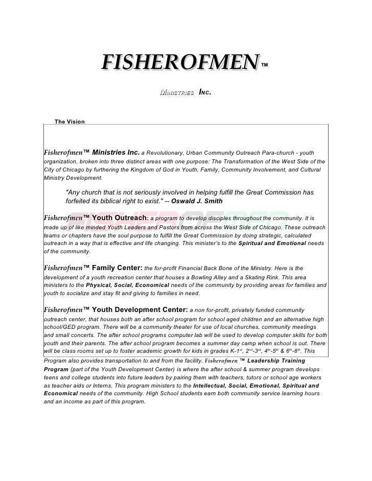 FISHEROFMEN                                                   ™                                                 MINISTRIE...