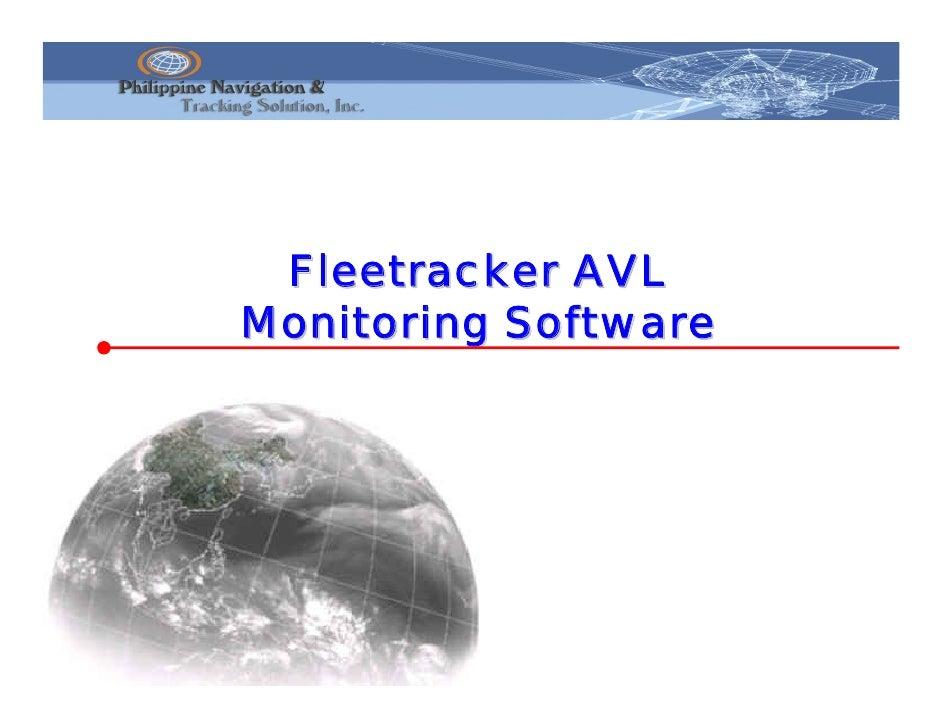 Fleetracker AVL Monitoring Software