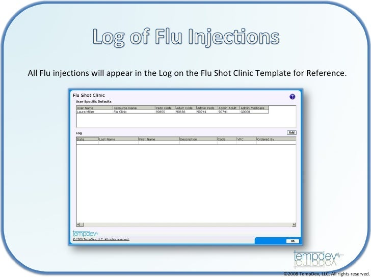 tempdev nextgen flu clinic workflow
