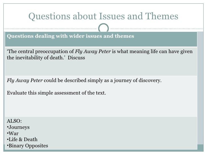fly away peter themes