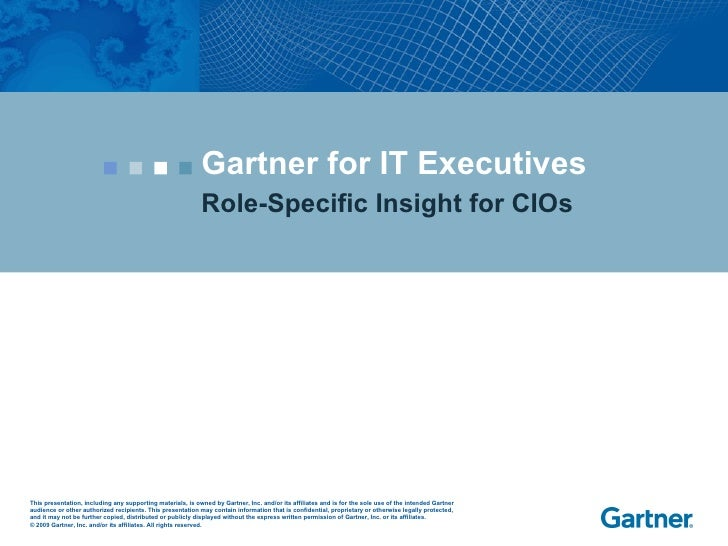 Gartner for IT Executives Role-Specific Insight for CIOs