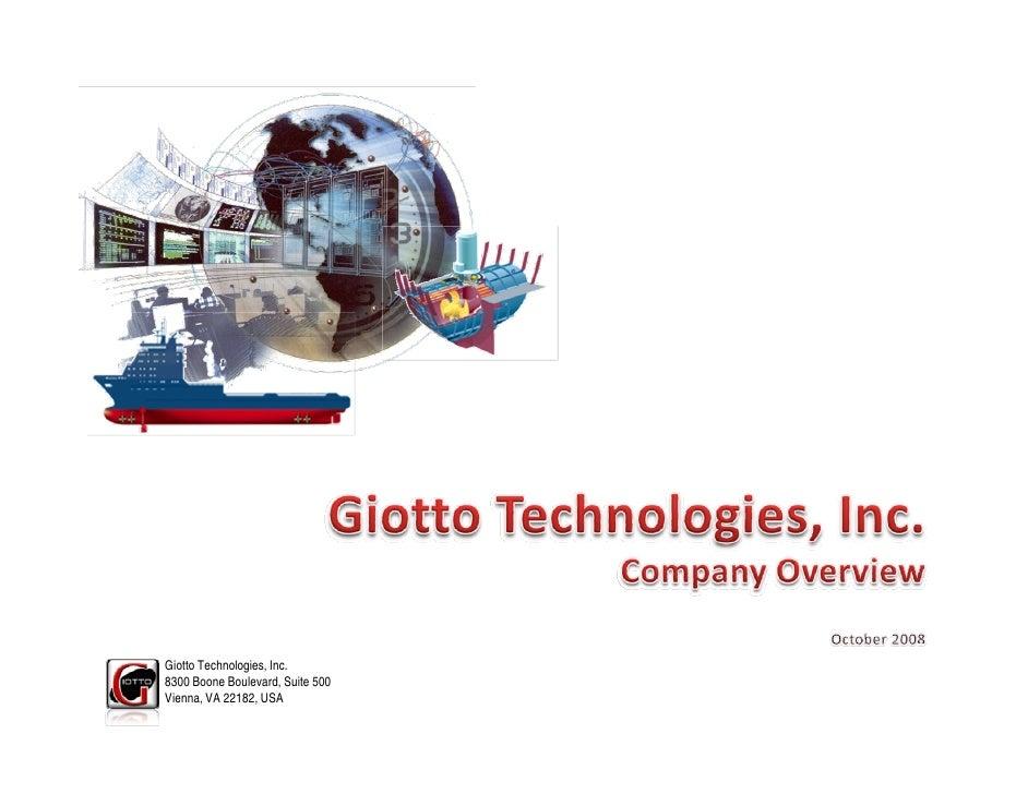 Giotto Technologies, Inc. 8300 Boone Boulevard, Suite 500 Vienna, VA 22182, USA