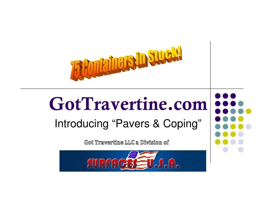 "GotTravertine.com Introducing ""Pavers & Coping"""