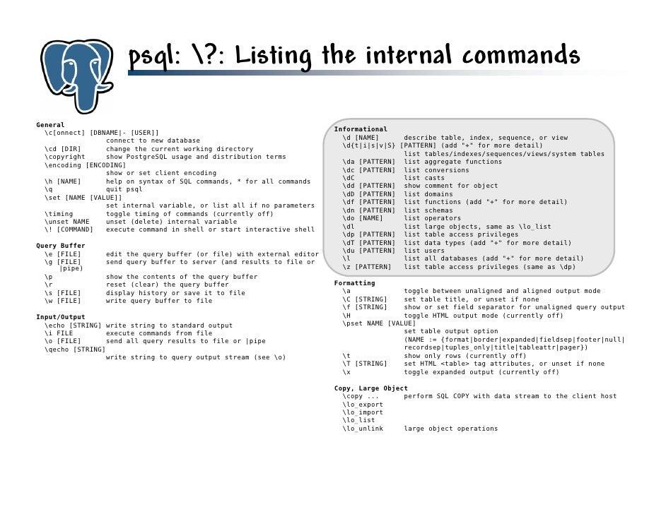 Get to know PostgreSQL!