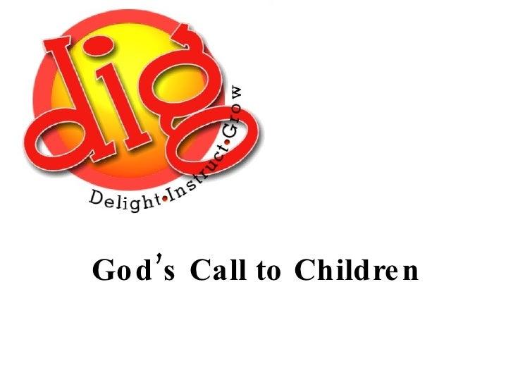 God's Call to Children