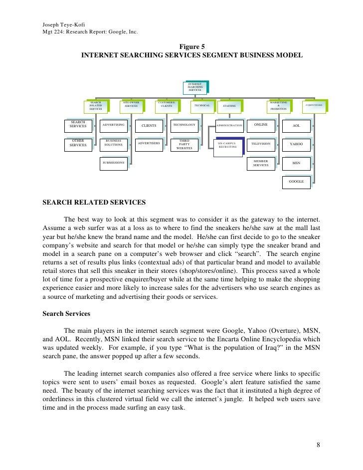 Joseph Teye-Kofi Mgt 224: Research Report: Google, Inc.                                       Figure 5                INTE...