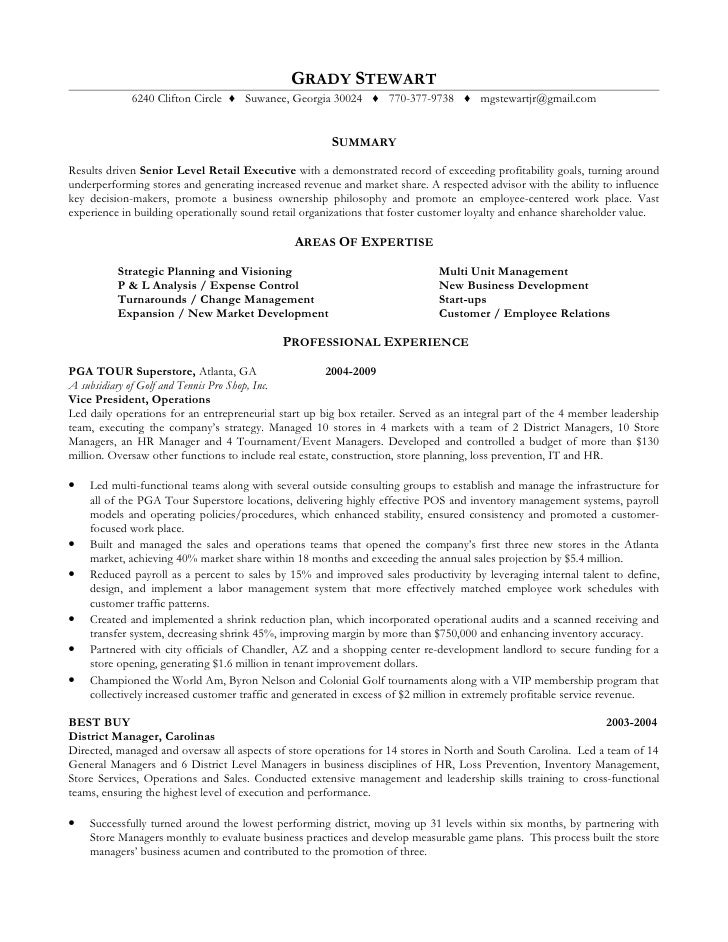 grady stewart resume - Employee Relation Manager Resume
