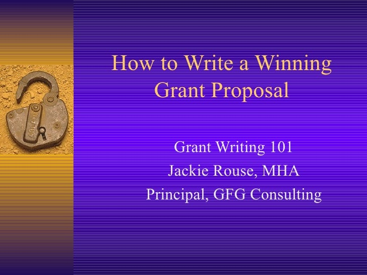 guide to writing a proposal for funding