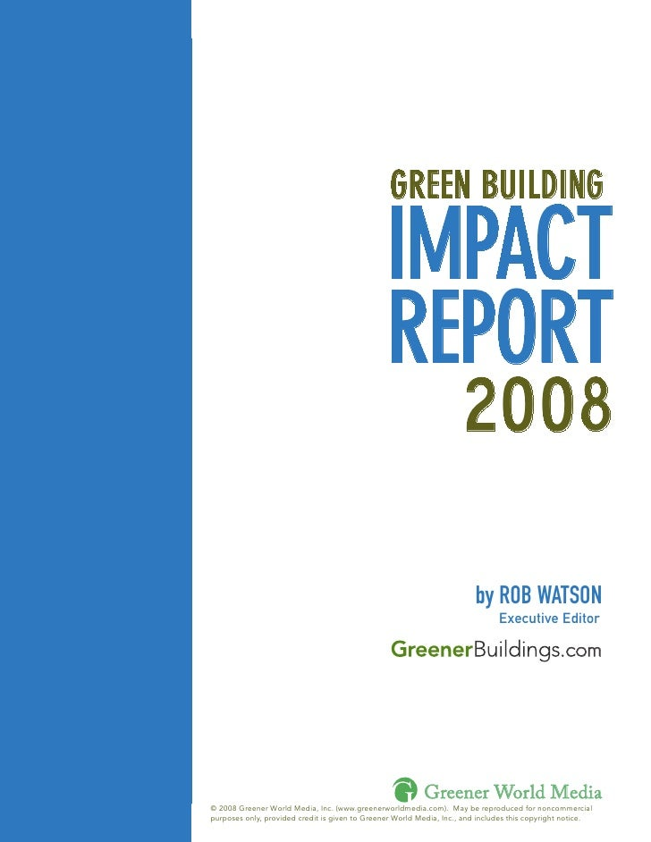 GREEN BUILDING                                                      IMPACT                                                ...