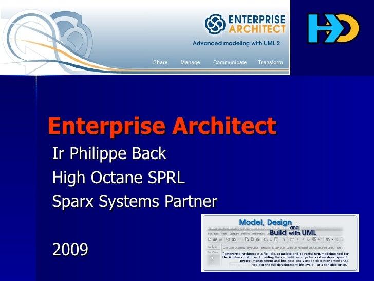 Enterprise Architect Ir Philippe Back High Octane SPRL Sparx Systems Partner 2009