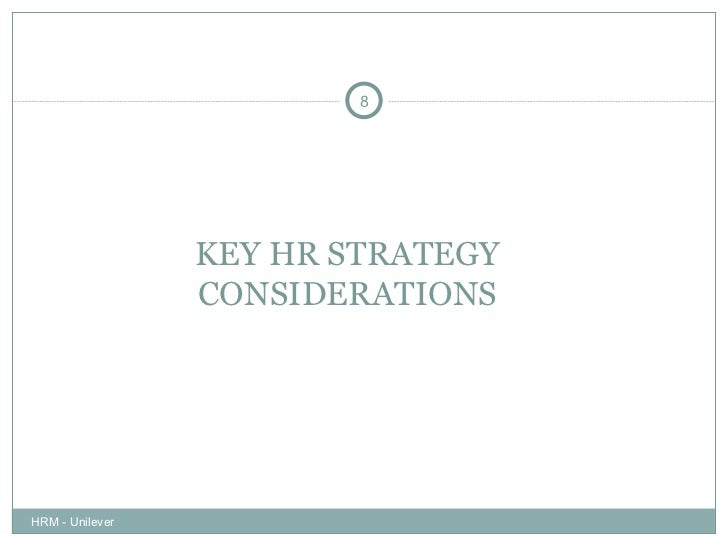 Hrm strategy in a case study