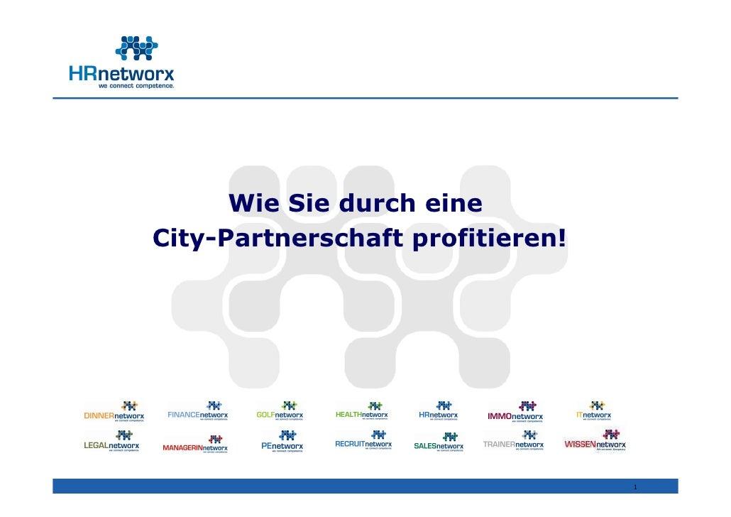 Wie Sie durch eine City-Partnerschaft profitieren!                                       1