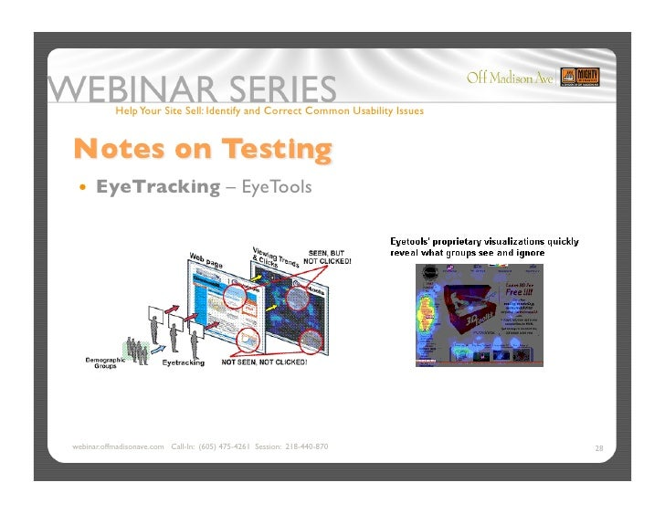 Help Your Site Sell: Identify and Correct Common Usability Issues       EyeTracking                           – EyeTools...
