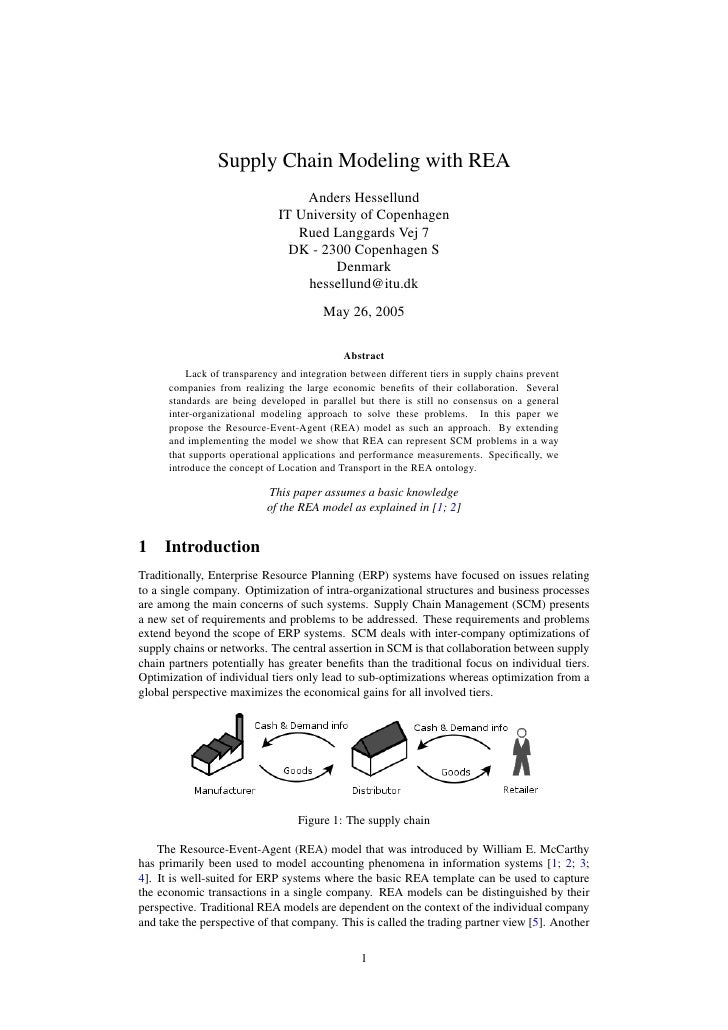 Supply Chain Modeling with REA                                   Anders Hessellund                               IT Univer...
