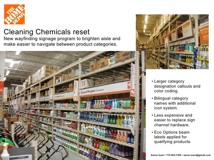 Cleaning Chemicals Reset New Wayfinding Signage Program To Brighten Aisle  And Make Easier To Navigate Between ...