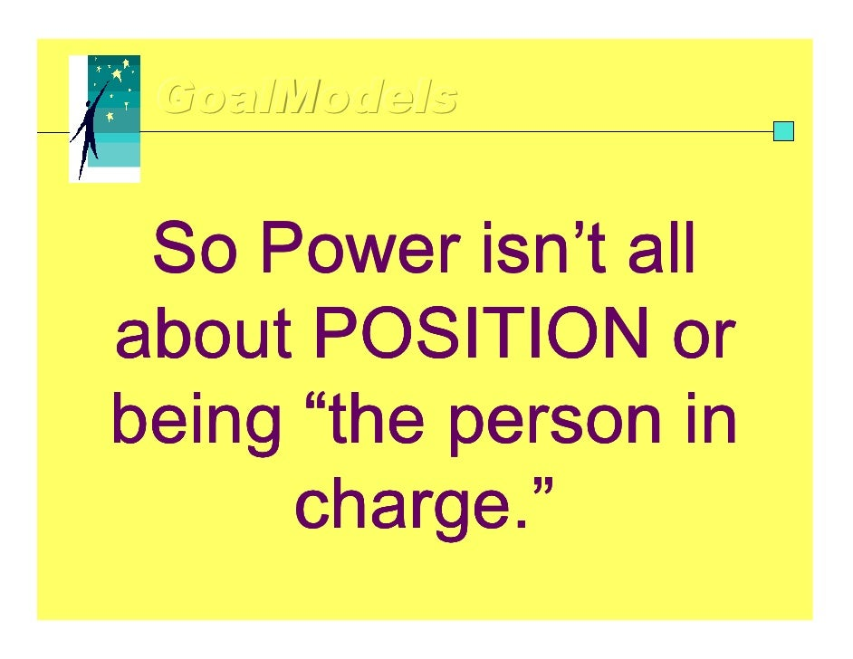 Difference between Position Power and Personal Power