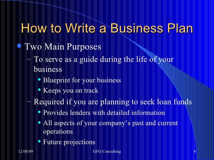 How to write a business plan business plan 060809 gfg consulting 4 malvernweather Choice Image