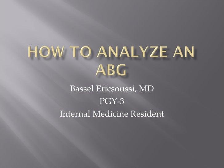 Bassel Ericsoussi, MD PGY-3 Internal Medicine Resident