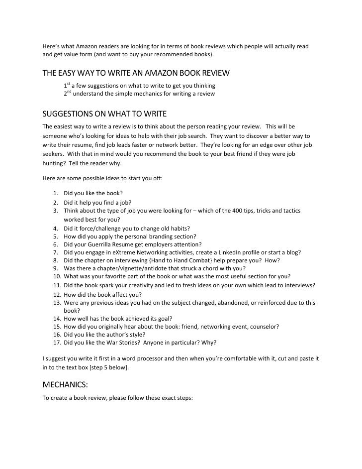 How to write a research paper on a book review