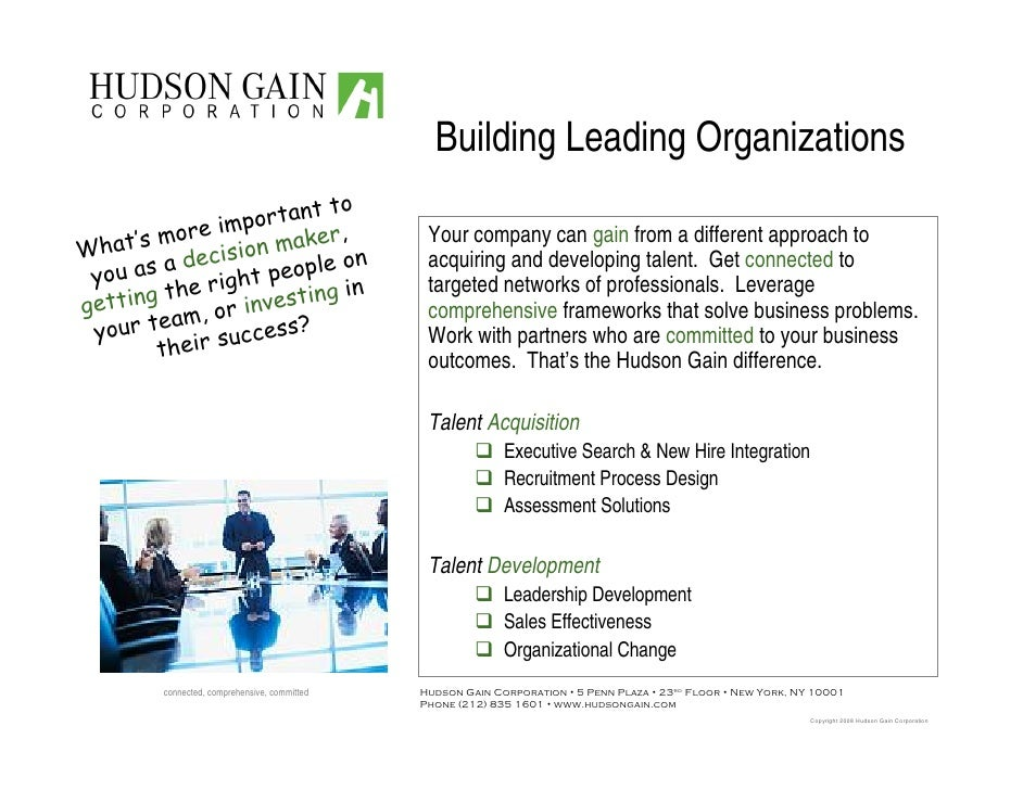 Building Leading Organizations                             to                      ortant                 im p       's mo...