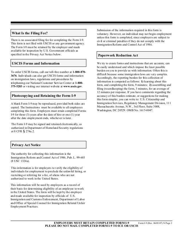I 9 Compliance Handout