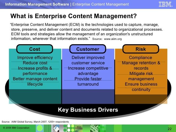 IBM - Understanding the value of ECM