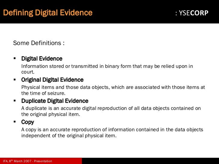 digital forensic investigation in organisations Digital forensics in the organisation  • increasingly being deployed in organisations §however,  forensic investigation.