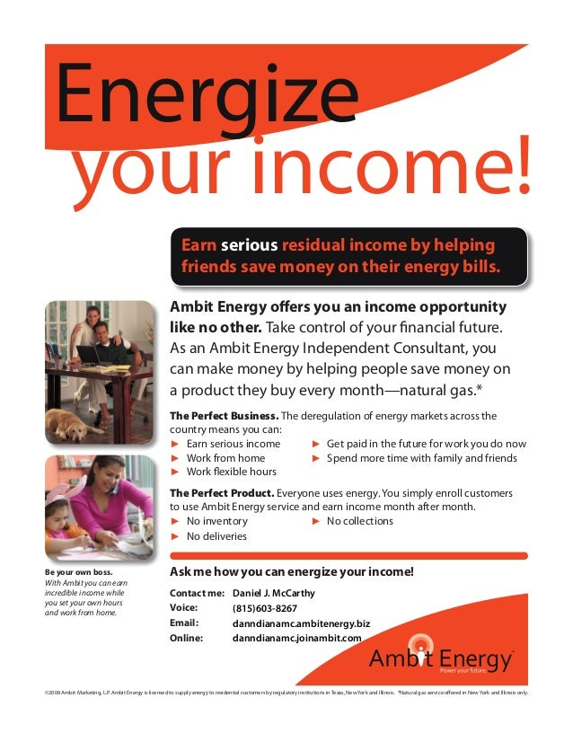 Ambit Energy Login >> Il Consultant Flyer