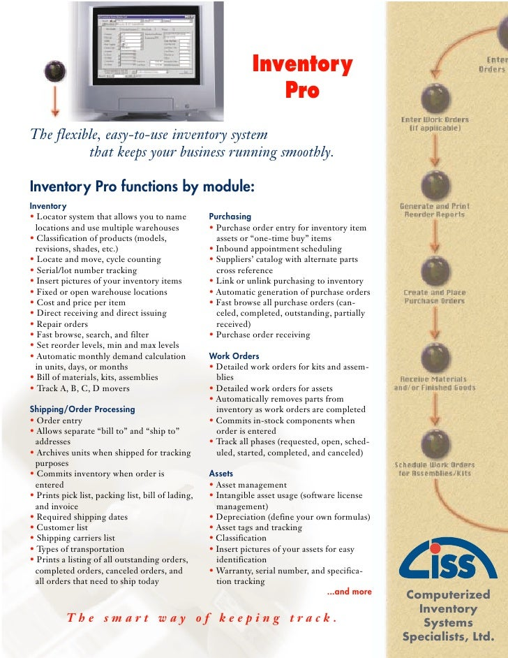 Inventory                                                                   Pro The flexible, easy-to-use inventory system...