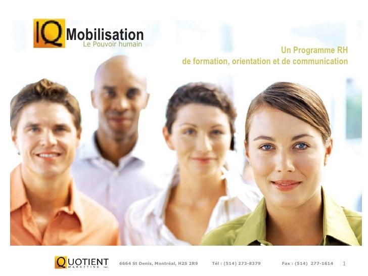 6664 St Denis, Montréal, H2S 2R9   Tél:(514) 273-8379  Fax:(514)  277-1614 Mobilisation Le Pouvoir humain Un...